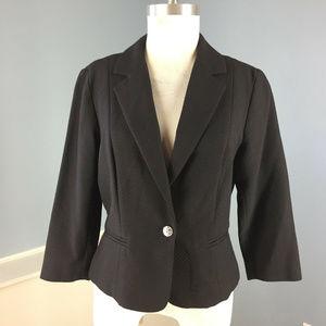 J McLaughlin Black Textured Blazer jacket M 10